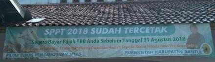 SPPT PAJAK 2018 SUDAH TERDISTRIBUSI