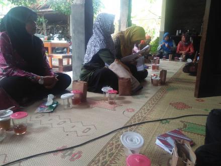 Pertemuan Kader Yandu di Dusun Panjang