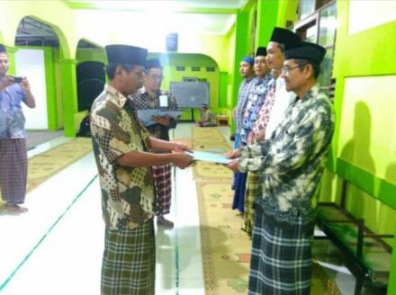 Serahterima jabatan pengurus masjid ar-Rahman dusun Badan