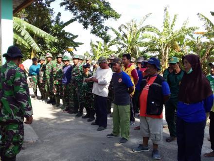 Kerjabakti TMMD Bersama TNI dan Pamong