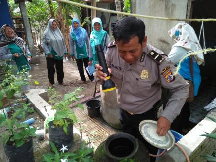 Kegiatan Pemberantasan Sarang Nyamuk (PSN) di Dusun Jamprit