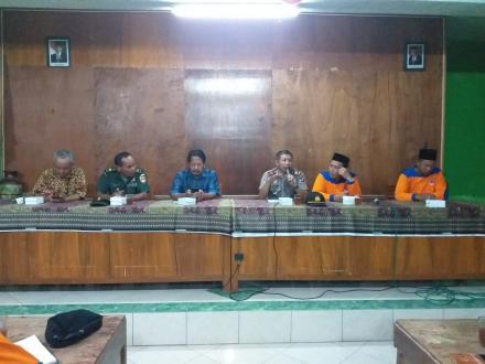Rakor FPRB (Forum Penanggulangan Resiko Bencana)