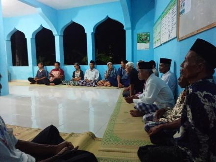 Rapat di Masjid Al Mujahidin Badan