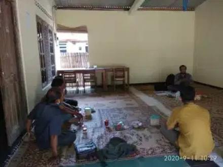 Rapat BSPS di Rumah Bapak Dukuh Muhaimin (Dsn. Watu)