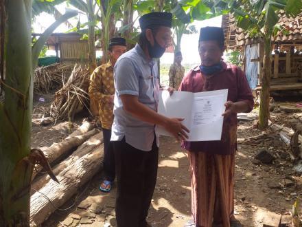 Penyerahan Akta Kematian di Dusun Soronanggan
