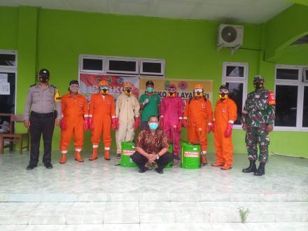 Penyemprotan Disinfektan di Dusun Semampir