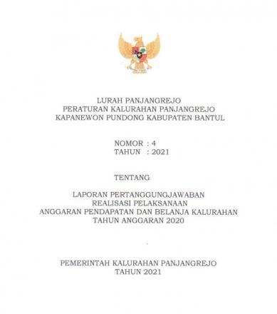 PerKal Panjangrejo No : 4 Tahun 2021