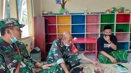 Bapak Lurah Mudiyana meninjau pelaksanan Vaksinasi MWCNU Pundong
