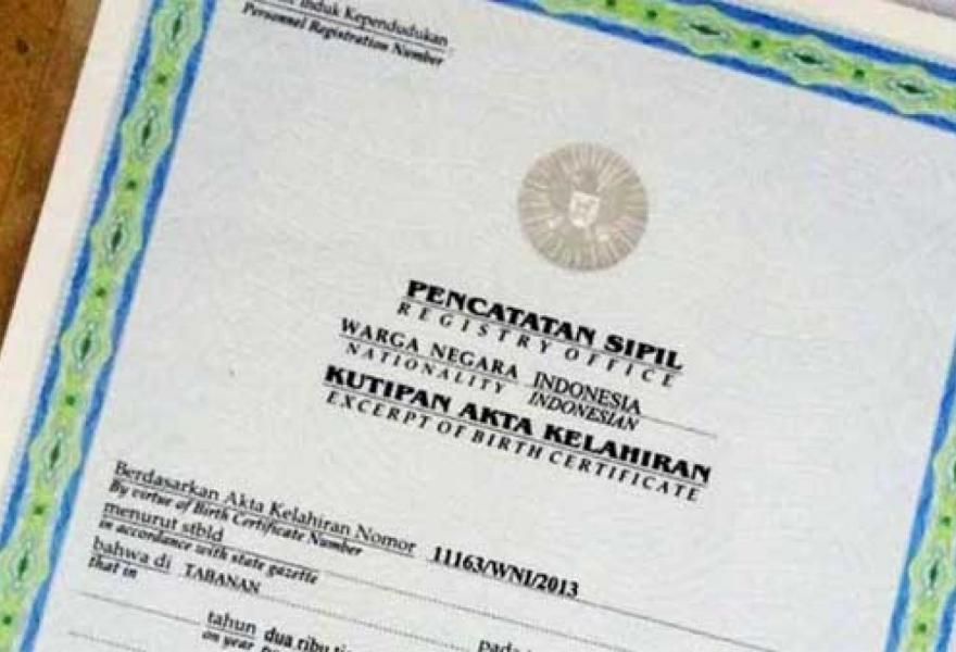 Akta Kelahiran Website Desa Panjangrejo